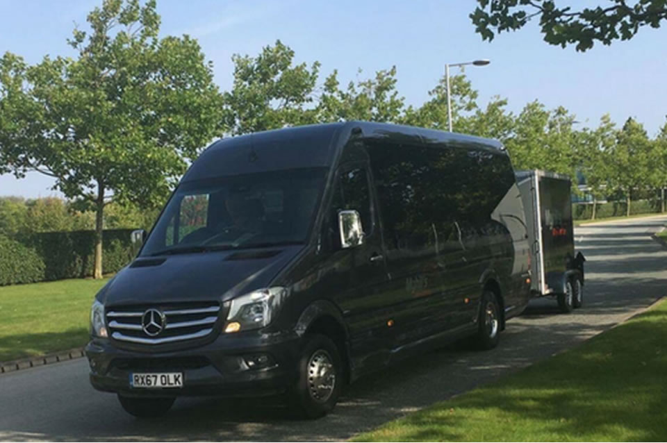 Mercedes Benz 22 Seater Minicoach with optional luggage trailer